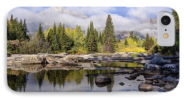 Teton Autumn IPhone Case by Jeremy Farnsworth