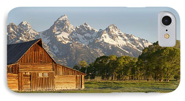 IPhone Case featuring the photograph Teton Barn With Bison by Aaron Spong