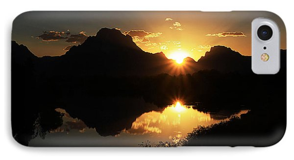 Teton Double Star IPhone Case by Clare VanderVeen