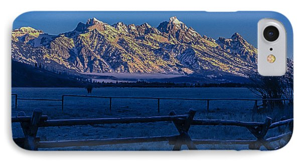 IPhone Case featuring the photograph Teton First Light by Yeates Photography