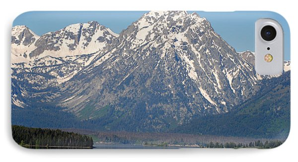 Teton Lake IPhone Case by Robert  Moss