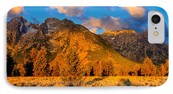 Teton Mountain View Panorama IPhone Case by Greg Norrell