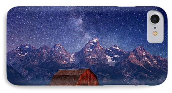 Mountain iPhone 7 Case - Teton Nights by Darren  White