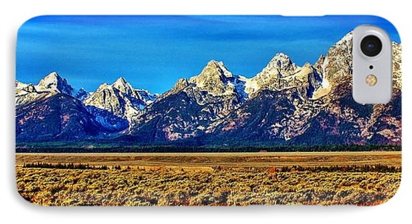 IPhone Case featuring the photograph Teton Panorama by Benjamin Yeager