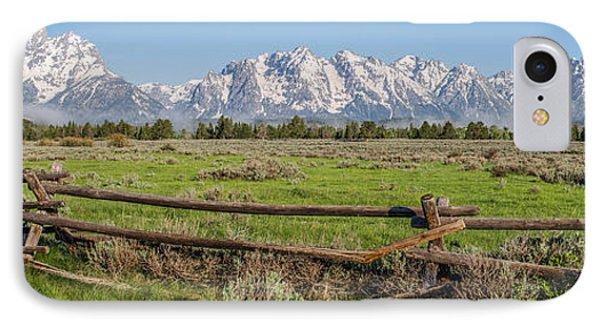 Teton Range Panorama Phone Case by Aaron Spong