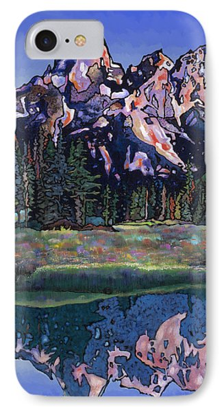 IPhone Case featuring the painting Teton Summer by Bob Coonts