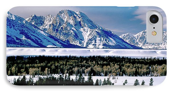 Teton Valley Winter Grand Teton National Park IPhone Case by Ed  Riche