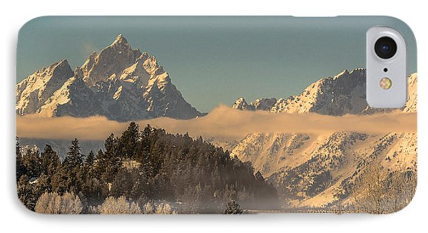 IPhone Case featuring the photograph Tetons At Jackson Lake Dam by Yeates Photography