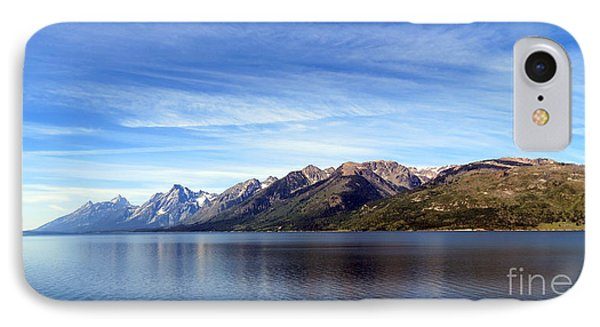 Tetons By The Lake IPhone Case by Ausra Huntington nee Paulauskaite