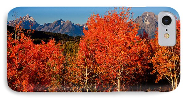 IPhone Case featuring the photograph Tetons Colors Of Autumn by Aaron Whittemore