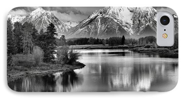 Tetons In Black And White Phone Case by Dan Sproul
