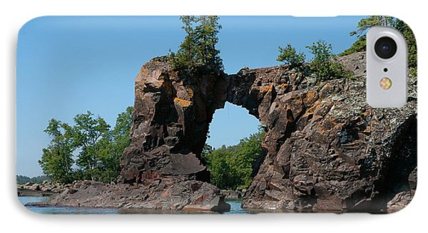 IPhone Case featuring the photograph Tettegouche Arch By Kayak by Sandra Updyke