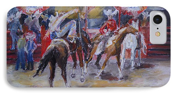 Texan Rodeo Phone Case by Barbara Pommerenke