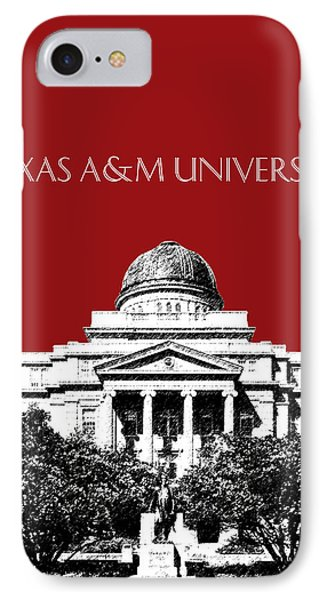 Texas A And M University - Dark Red IPhone Case by DB Artist