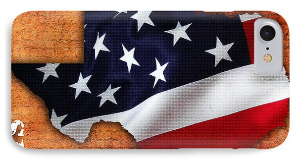 Texas American Flag Map IPhone Case by Marvin Blaine