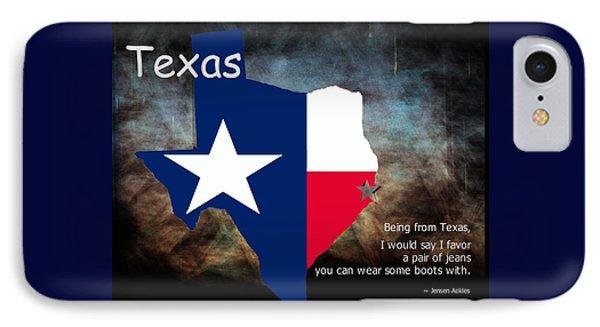 Jensen Ackles Texas Quote IPhone Case