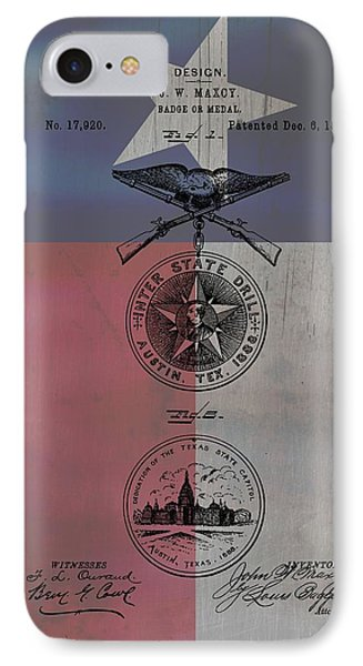Texas Badge Patent On Texas Flag IPhone Case