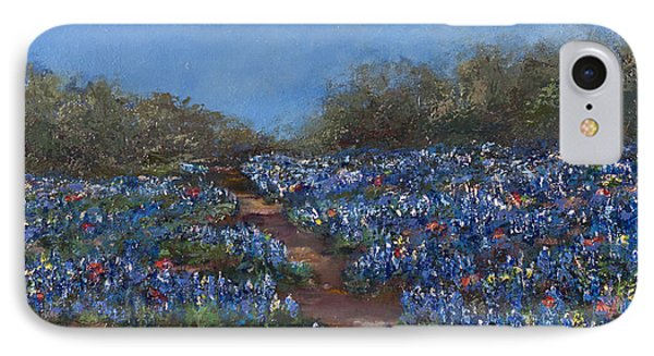Texas Blue Bonnets Hill Country Trail Phone Case by Nancy LaMay
