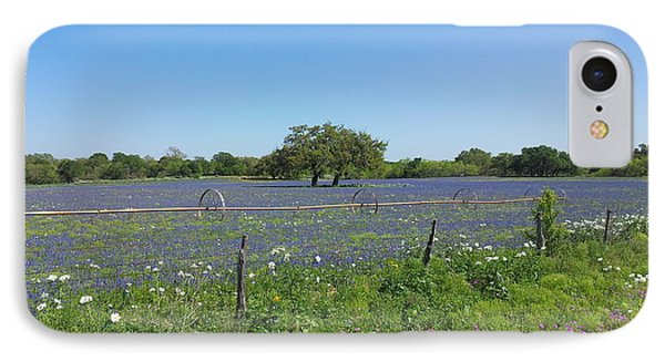 Texas Blue Bonnets Phone Case by Shawn Marlow