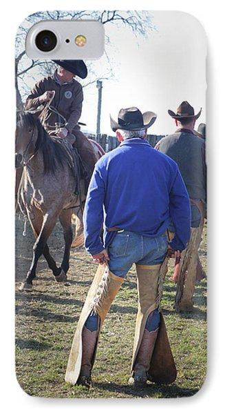 Texas Cowboy IPhone Case by Diane Bohna