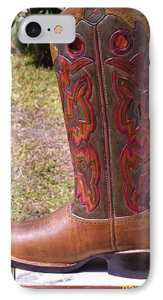 Texas Custom Boot IPhone Case by Michael Pasko
