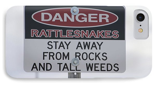 Texas Danger Rattle Snakes Signage Phone Case by Thomas Woolworth