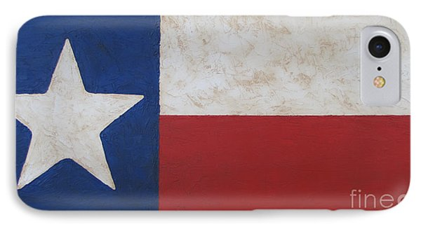 IPhone Case featuring the painting Texas Flag by Jimmie Bartlett
