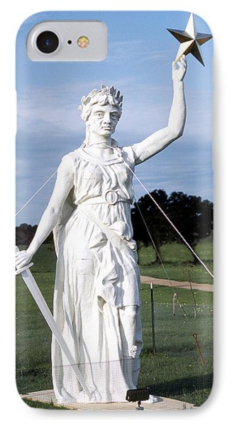Texas Goddess Of Liberty IPhone Case by Jim Smith