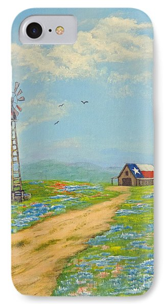 IPhone Case featuring the painting Texas High Sky by Jimmie Bartlett