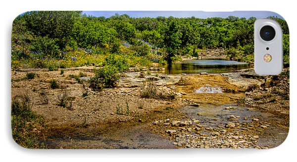 Texas Hill Country Stream IPhone Case by David and Carol Kelly