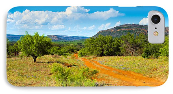 Texas Hill Country Red Dirt Road IPhone Case by Darryl Dalton
