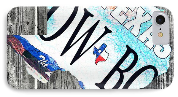 Texas License Plate Map Phone Case by Bill Cannon