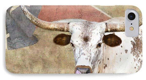 Texas Longhorn # 2 IPhone Case by Betty LaRue