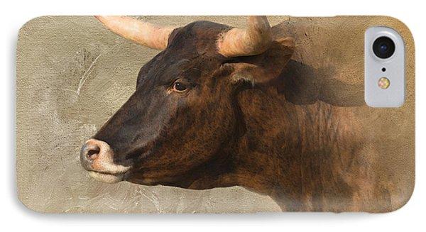 Texas Longhorn # 3 IPhone Case by Betty LaRue