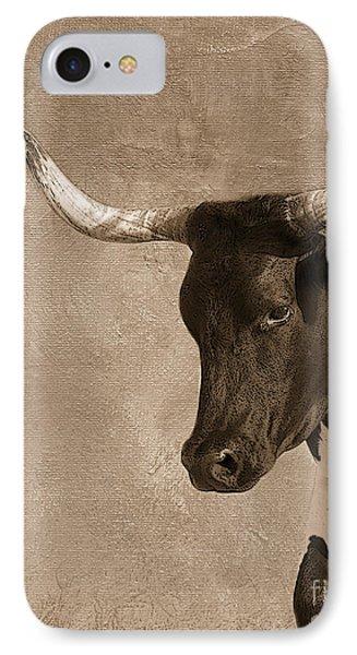 Texas Longhorn #6 Phone Case by Betty LaRue