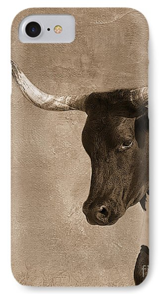 Texas Longhorn #6 IPhone Case by Betty LaRue