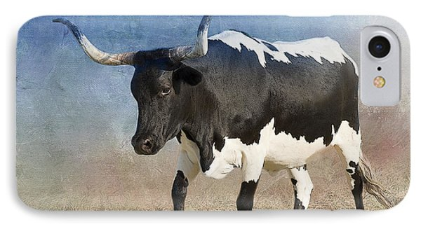 Texas Longhorn #7 IPhone Case by Betty LaRue