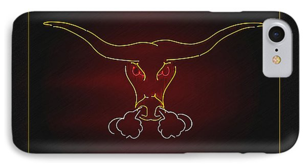 Texas Longhorn Photoart 1 IPhone Case