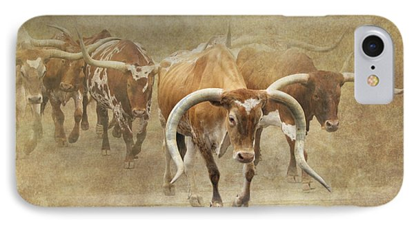 Texas Longhorns 2 IPhone Case by Angie Vogel