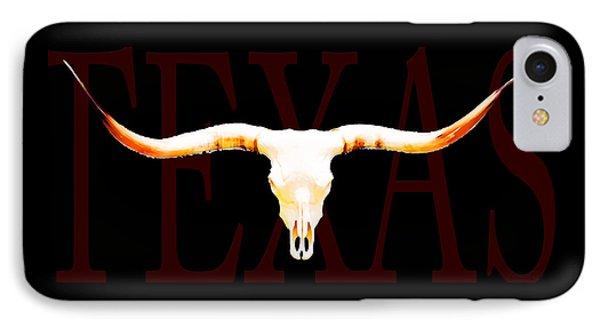 Texas Longhorns By Sharon Cummings Phone Case by Sharon Cummings