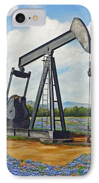 Texas Oil Well Phone Case by Jimmie Bartlett