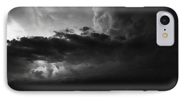 Texas Panhandle Supercell - Black And White Phone Case by Jason Politte