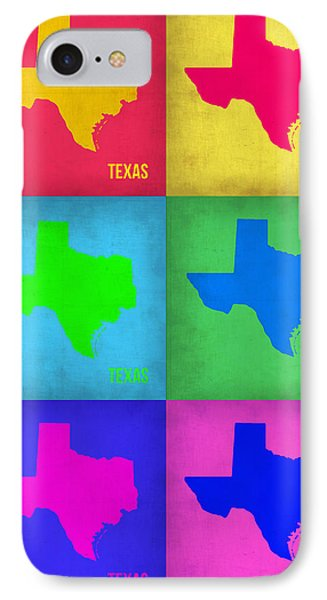 Texas Pop Art Map 1 Phone Case by Naxart Studio