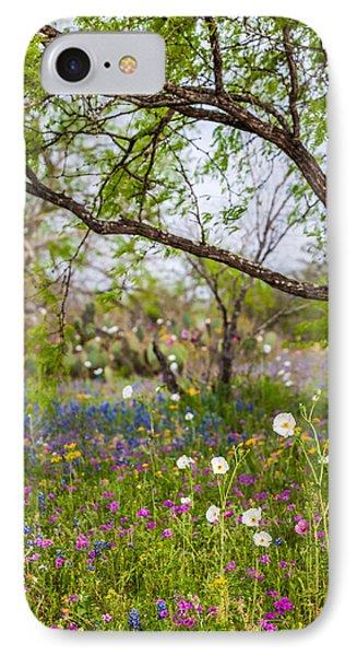Texas Roadside Wildflowers 732 IPhone Case by Melinda Ledsome