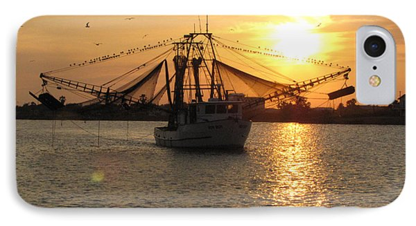 IPhone Case featuring the photograph Texas Shrimp Boat  by Jimmie Bartlett