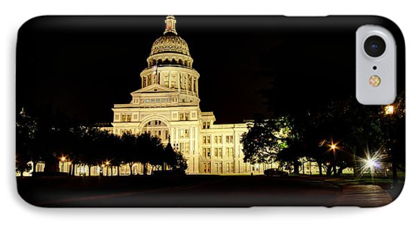 Texas State Capitol IPhone Case by Dave Files