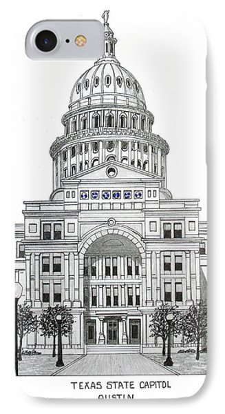 Texas State Capitol IPhone Case by Frederic Kohli