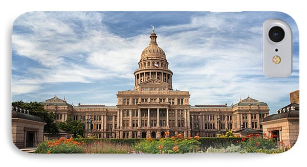 Texas State Capitol II IPhone Case by Joan Carroll
