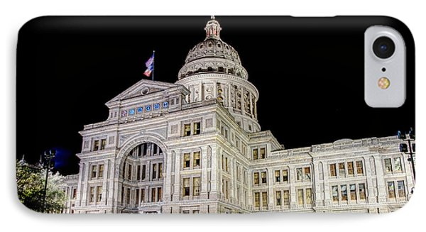Texas State Capitol IPhone Case by Tim Stanley