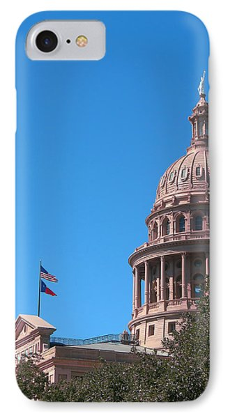 Texas State Capitol With Pediment IPhone Case by Connie Fox